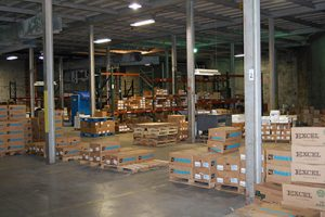 inside Packers warehouse